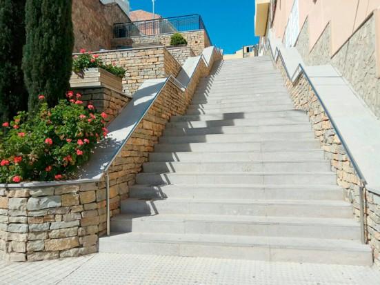 Escalinata de la plaza Oriente