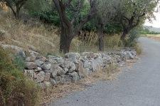 Mur de pedra seca al Camí la Punta