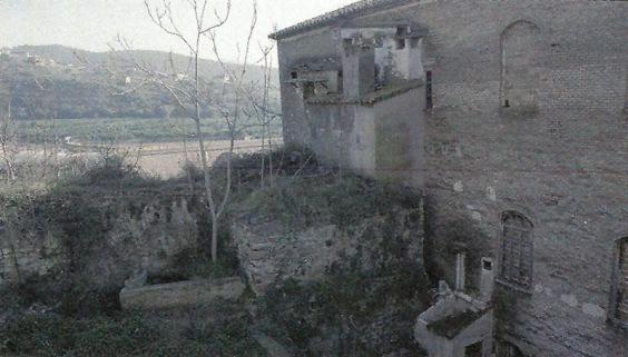 Vista detallada del molino del Tio Demetrio antes del incendio que lo derruyó.