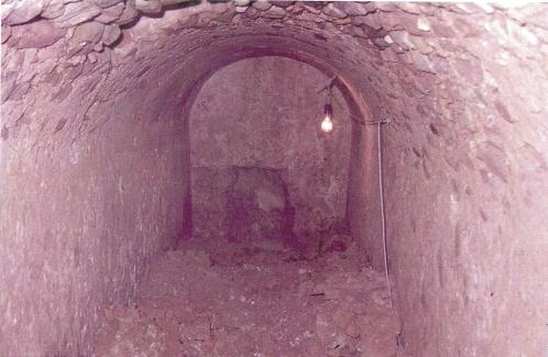 Vista del interior de la cisterna del Ángel.